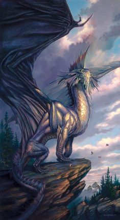 Silverdragon by Todd Lockwood - This, appropriately enough, was the cover of the Silver Anniversary edition of Dragon Magazine.