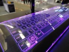 a keyboard made with glass