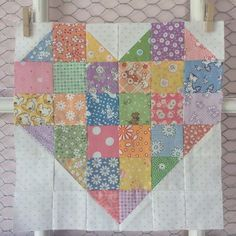 And last, but certainly not least, here is the Patchwork Heart block, for those of you who want to add just a little more love to your quilts ;). This one is super simple to sew, and will likely grace the most coveted block spot in my quilt – the...