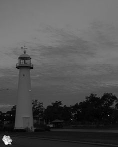 Photo Friday - Mississippi Monochrome - Biloxi Lighthouse - See Mississippi - Pierced Wonderings - http://www.piercedwonderings.com