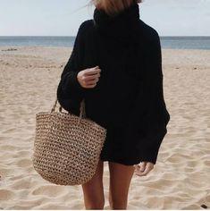 "1,197 Me gusta, 17 comentarios - mamen hazañas (@mamen_ha) en Instagram: ""@beyou_geraldinealasio @geraldine_alasio #cashmere #cool #beach #beachstyle #beachlife"" Sandro, Straw Bag, Chic, Instagram, Bags, Cashmere, Fashion, Shabby Chic, Handbags"