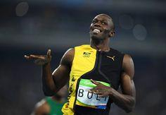 Seht her, ich bin der Champion: Bolt hatte vor den Sommerspielen...