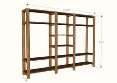 Ana Blanco | Construir un sistema de armario de madera del listón del estilo industrial con tubos galvanizados | Proyecto de bricolaje libre y fácil y Planes de muebles