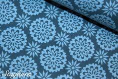 Stenzo Cord Blumen brandneu - blau von Staghorn Design auf DaWanda.com