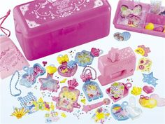 cute jewelry charms making kit heart bear star clover Japan