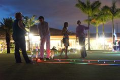 Glow golf at the Smart Event National at PGA National Resort & Spa, Palm Beach Gardens, Fla.