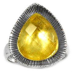 Lemon Topaz 925 Sterling Silver Ring Jewelry s.7 LMTR158 - JJDesignerJewelry