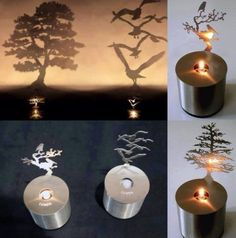 Candle shadow art