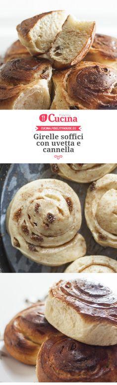 Girelle soffici con #uvetta e #cannella della nostra utente Chiara. Unisciti alla nostra Community ed invia le tue ricette!