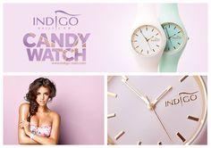 Indigo Candy Watch - New Pastel colour :) Find more inspiration at www.indigo-nails.com #nailart #nails #indigo #watch #pastel #hot