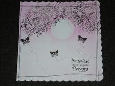I love the colour (Opera Pink) used on this 8 x 8 card using Card-io Stamps