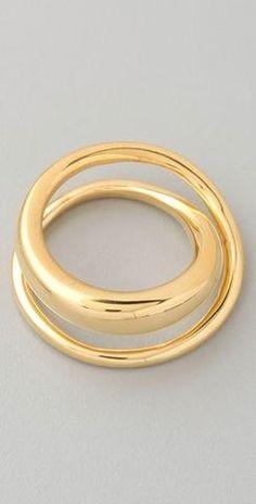 Tom Binns Gold Classic Saturn Ring