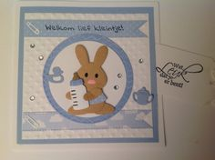 Baby Shower Cards, Baby Cards, Baby Shawer, Marianne Design, Handmade Baby, Bunnies, Cardmaking, Tags, Character