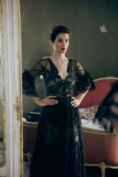 Elisa Lasowski featured in The Gentleman's Journal wearing the Winter '16 Midi Mast Dress