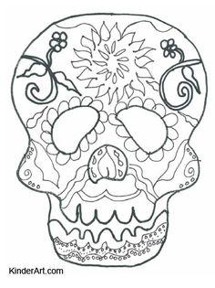 Day Of The Dead Calavera Skull Mask