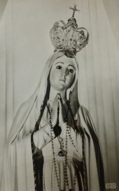 allaboutmary: A vintage postcard of the pilgrim statue of Our Lady of Fatima in Alzen, Germany. Fatima Prayer, Lady Of Fatima, Child Love, Religious Art, Our Lady, Pilgrim, Catholic, Mary, Princess Zelda
