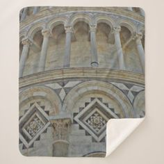 Leaning Tower of Pisa  Italy - close -up Sherpa Blanket - diy cyo customize create your own personalize