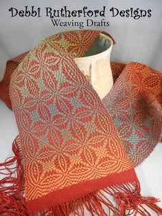 Orange Peel Overshot Woven Scarf  Weaving Draft by DebbiRYarn, $5.00