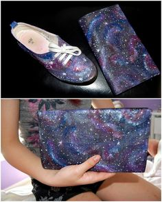 DIY Best Galaxy Tutorials Ever from Gloriously Chic here!!