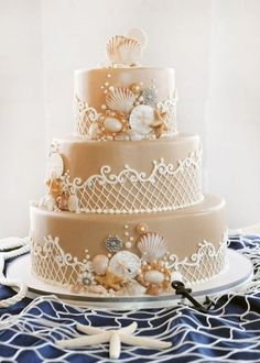 Resultado de imagem para bolo para casamento na praia