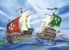 Ink and digital Watercolor Magazine Articles, Sailing Ships, Illustrations, Watercolor, Ink, Digital, Drawings, Pen And Wash, Watercolor Painting