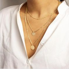 Triple Layer Sequin Dot Necklace - $5.99. https://www.bellechic.com/deals/e67d0e073135/triple-layer-sequin-dot-necklace