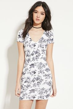 Floral-Print Bodycon Dress | Forever 21 - 2000150137