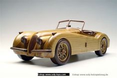 Jaguar SS 100 wooden modell - Wooden natural toys, cars and aircraft models, angels, jewerly boxes
