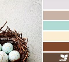 Color palette inspiration for the master bedroom. The walls are teal but I like the accent colors in this one.