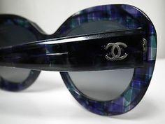 Authentic Womens CHANEL 5323 1490/K4  Multi Blue Bordeaux Sunglasses-Retail $450