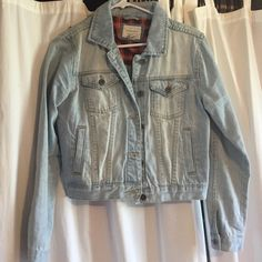 Forever 21 Jean Jacket Light wash, studded on top of the back of jacket, worn twice Forever 21 Jackets & Coats Jean Jackets