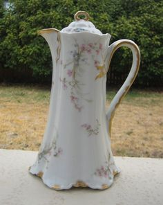 beautiful chocolate pots | Antique Haviland Limoges China Chocolate Pot - H & Co L France ...
