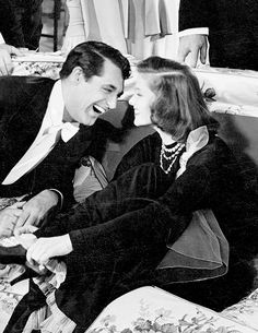 Cary Grant and Katharine Hepburn in Holiday (1938) One of my favorite movies.