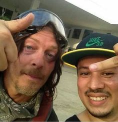 Norman Reedus and fan in Costa Rica