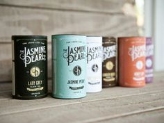 Jasmine Pearl Tea Co. - I love the simple look of this packaging. Along with the color choices it gives it a vintage feel.