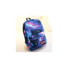 Crystal Galaxy Print Backpack ($29) ❤ liked on Polyvore featuring bags, backpacks, accessories, galaxy print backpack, blue bag, blue backpack, backpacks bags and galaxy backpack