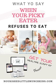 Avoid the mealtime meltdown with your picky eater by using these scripts for common mealtime scenarios.  If your child has trouble coming to the table, you're chasing them around with a spoon, is crying when they are asked to take a bite, throws food on the floor, barely eater a few bites before being full, or is starting to even refuse to eat old favourites, you'll have a framework to address these common mealtime scenarios with understanding and compassions and without using icky methods. Natural Parenting, Health Articles, Picky Eaters, Child Development, Early Childhood, New Recipes, Your Child, Health And Wellness, Activities For Kids