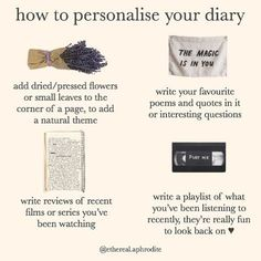 Journal Writing Prompts, Bullet Journal Writing, Personalised Diary, Get My Life Together, Things To Do When Bored, Art Journal Inspiration, Journal Ideas, Journal Aesthetic, Classy Aesthetic