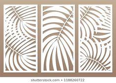 Immagine vettoriale stock 1188260722 a tema Set Decorative Card Cutting Leaves Foliage (royalty free) Laser Cut Panels, Metal Panels, Art Deco Design, Wall Design, Motif Arabesque, Cnc Cutting Design, Stencil Decor, 3d Cnc, Laser Art