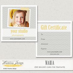 Photography Gift Certificate photoshop 5x5 card by TiramisuDesign   5    Photography Gift Certificate Ideas