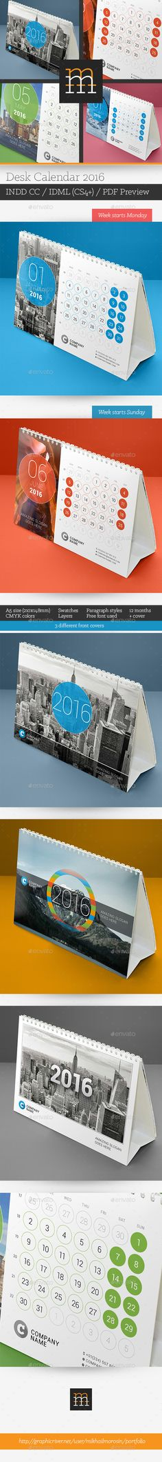 Desk Calendar For 2017 | Updated | Desk Calendars, Calendar And