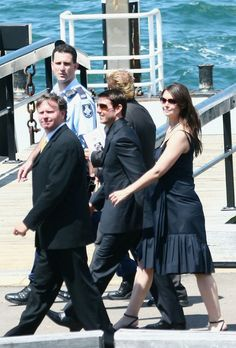 Katie Holmes Tom Cruise and Katie Holmes attend the memorial service for Kerry Packer at the Sydney Opera House on February 17, 2006 in Sydn...