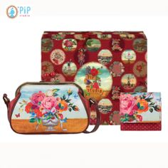 be99b2463dd9e Pip Studio Gift Box with frame Shoulder Bag and flap Wallet - wrapped in a  beautiful