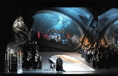 Tosca from Teatro Lirico di Cagliari. Production by Joseph Franconi Lee based on an original concepts by Alberto Fassini. Sets and costumes by William Orlandi.