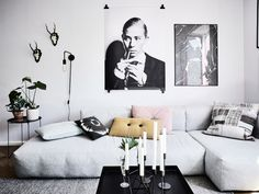 Black and white. And pastels