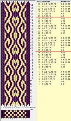 16 tarjetas, 2 colores, repite cada 14 movimientos // sed_632 diseñado en GTT༺❁