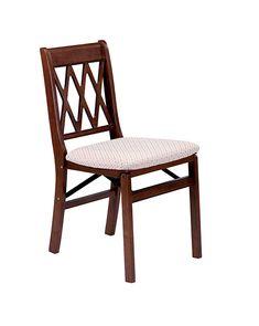 Stakmore Lattice Back Folding Chair Cherry Frame
