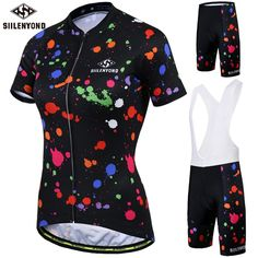 Big SALE Siilenyond Women Summer Cycling Set Racing Bicycle Cycling  Clothing Breathable Mountain Bike Clothes Cycling Jersey Suit 496d570eb
