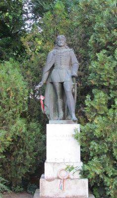 Statue of Ferenc Rákóczi in Sárospatak, Hungary