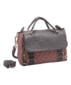 5190d0094a6c Misty Rose Quilted Moonstone Satchel by Mellow World